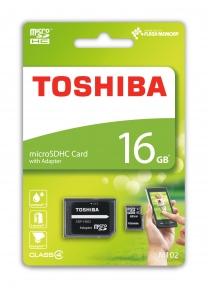 Карта памяти Toshiba microSDHC 16Gb сlass 4